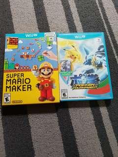 Preloved Wii U games / Super Mario Maker/ Pokken Tournament
