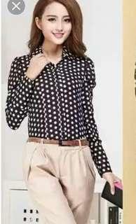 Polka Dot Top blouse