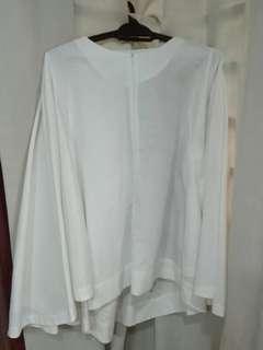 White Batwing Linen Top #3x100