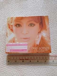 Hamasaki Ayumi Love Songs Album 濱崎步原創專輯 CD+DVD 台灣版