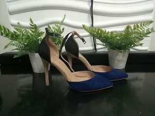 SoFab Two toned Blue Black Stilleto