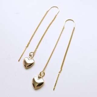 🚚 Rikka Heart Threader Earrings