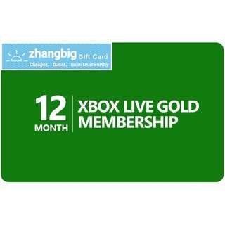 Xbox Live Gold Membership 12 month(Digital Code)