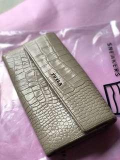 Furla Original Authentic Women Croc Embossed Cream Leather Wallet
