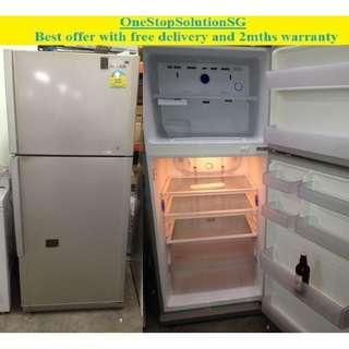 Samsung (389L) , 2 doors Big Fridge / Refrigerator  ($350 + free delivery and 2mths warranty)