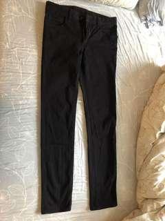 Uniqlo 29腰W 黑色休閒長褲