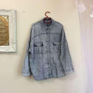 Oversize jeans top/ jacket