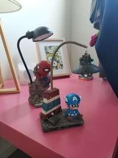 Desk lamp Spiderman and Captain America