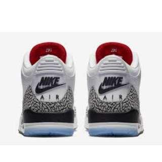 95a6b6c4558a7c Nike Air Jordan 3 White Cement Free Throw Line