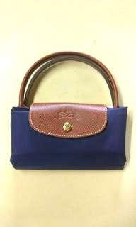 Authentic Brand New Blue Longchamp Le Pliage Top Handle Small