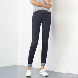 Dark Blue Korean Style Jeans M