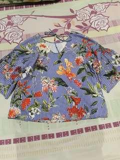 Freesize trendy blouse (fits med to large)