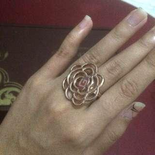 Rosegold Rose Ring