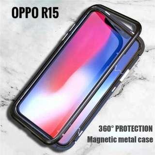 Oppo R15 Magnetic Metal Frame Case