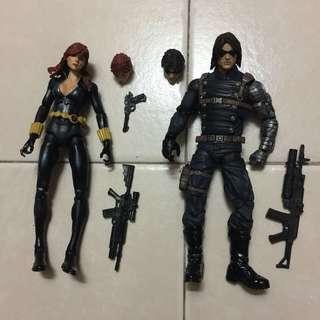 Marvel Legends winter soldier & black widow set