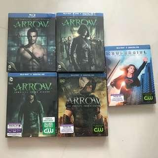 Arrow and Supergirl blu-ray