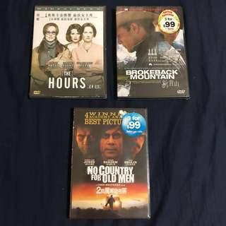 全新未拆封DVD 每隻$20 No Country for Old Men  The Hours  Brokeback Mountain