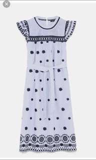 Zara embroidered dress new w/tag