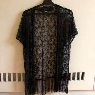 Robinsons Black Lace Kimono