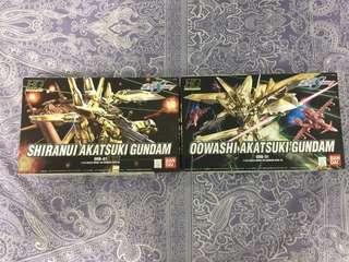 HG GUNDAM SEED 模型2隻 Shiranui Akatsuki Gundam Oowashi Akatsuki Gundam