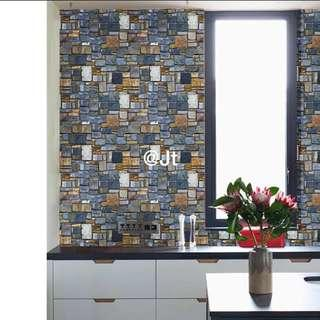 wallpaper abstract rustic realistic wall stone design