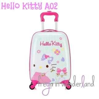 A02 18 Inch Hello Kitty Kids Luggage Travel Cabin Size Girls Trolley Suitcase Holiday