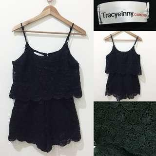 Tracyeinny guipure black jumpsuit