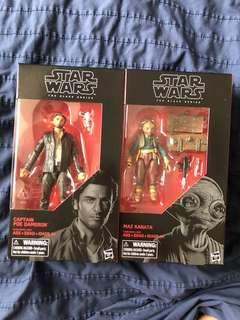 BNIB Star Wars Black Series Poe Dameron + Maz Kanata