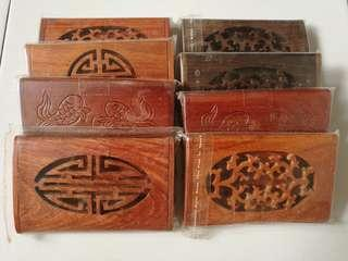 Wooden namecard holders from Penang