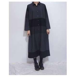 。error dot。日本黑巧克力千層塊接襯衫洋裝