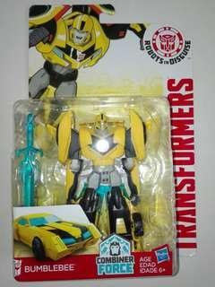 Transformers Bumblebee Bumble Bee Yellow Warrior Class 7 Steps Combiner Force Robots In Disguise Hasbro RID TRU