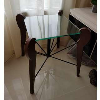 Glass Bed Stand / Patio Side Table