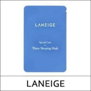 FREE SHIPPING LANEIGE SPECIAL CARE WATER SLEEPING MASK 4ML