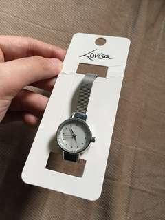 Lovisa Silver Rhinestone Mesh Strap Watch