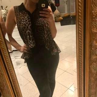 Leopard shirt sz 10