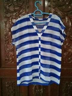 Stripes sheer top