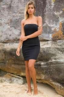 Strapless Black Bodycon Dress