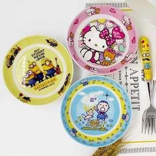 Kids Cartoon Plate Baby Melamine Dishware Cute Children Fruit Dish Plate Snack Plate