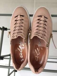 Alegra genuine full leather sneakers dusty pink limited edition