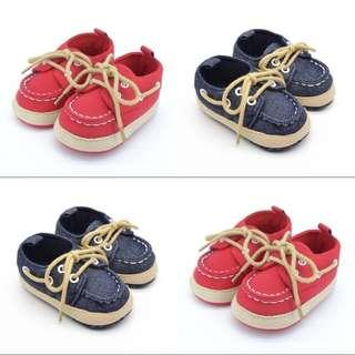 🚚 BN Baby Boy Casual Loafers / Prewalkers / Boat Shoes 6-12mths ! 12cm Red & Denim Blue avail! Ready Stock
