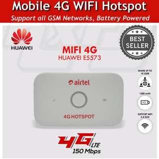 *Original* Huawei 3G 4G Mobile Pocket WIFI Internet Hotspot Wireless Router dongle 150Mbps E5573 Unlocked MIFI LTE 4G FDD CAT4 Airtel iphone