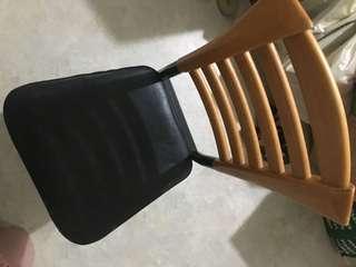 木椅混金屬 椅子