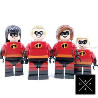 Lego Compatible Minifigures : The Incredibles Set