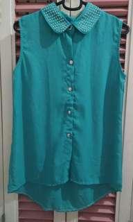 Mint sleeveless top
