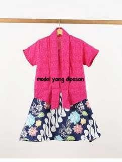 Rok batik kutu baru pink