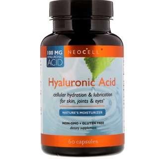 Neocell, Hyaluronic Acid, Nature's Moisturizer, 60 Capsules