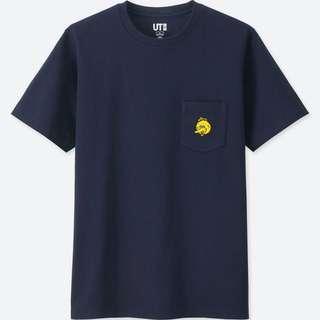Uniqlo x Kaws Sesame Street Big Bird Tee Shirt in Navy