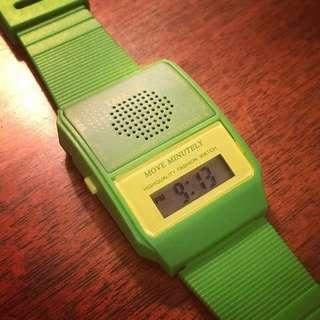 日文報時錶 talking watch 發聲手錶