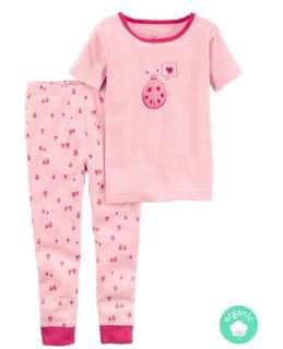 Carters 2-Piece Certified Organic Snug Fit Cotton PJs