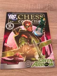 DC green arrow figure and book
